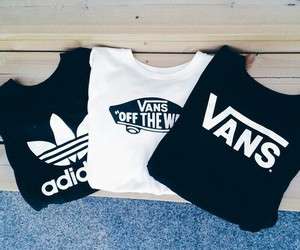 adidas, vans, and black image