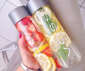 voss, water, and fruit image