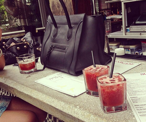 bag, drink, and luxury image