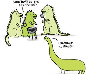 dinosaur, funny, and lol image
