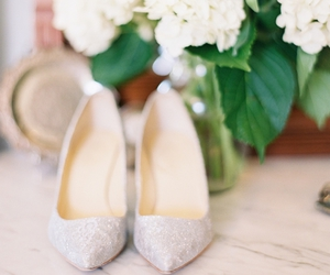 bride, shoes, and white dress image