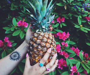 pineapple, summer, and tattoo image