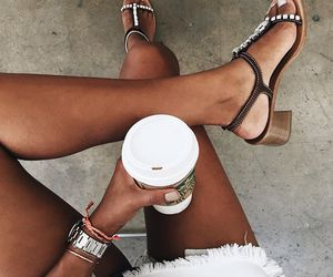 coffee, fashion, and starbucks image