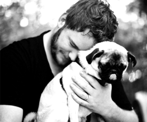 chris pratt, dog, and pug image