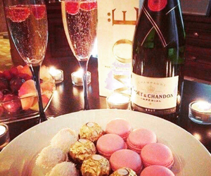 champagne, luxury, and food image