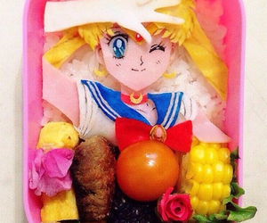 food and sailor moon image