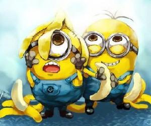 minions, banana, and yellow image