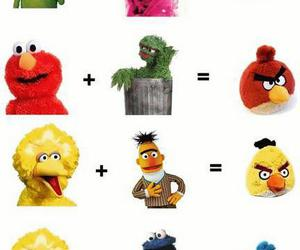 angry birds, funny, and sesame street image