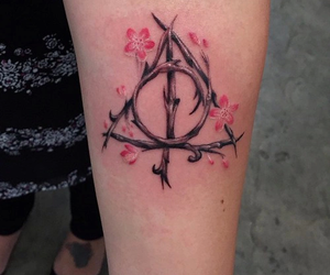 tattoo, harry potter, and art image