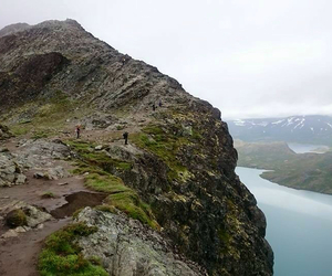 nature, norway, and besseggen image