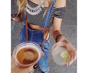 black nails, blonde hair, and blondie image