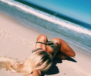 bikini, girls, and hair image