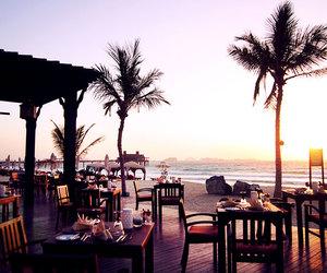 beach, ocean, and palm image