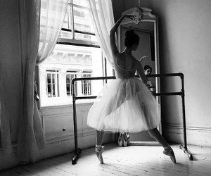 ballet, dancer, and black and white image