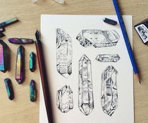 crystals, fitness, and grunge image