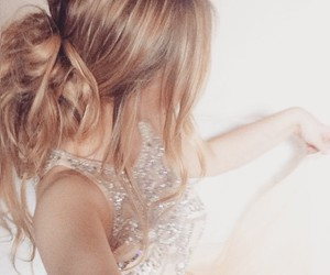 blonde, bun, and formal image