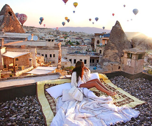 travel, balloons, and turkey image