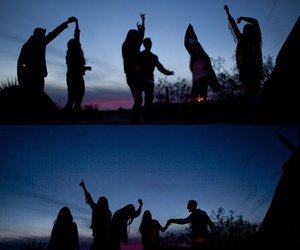 friends, night, and summer image