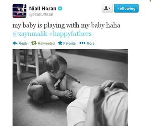 ziall, baby, and twitter image