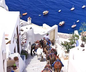 Greece, santorini, and blue image