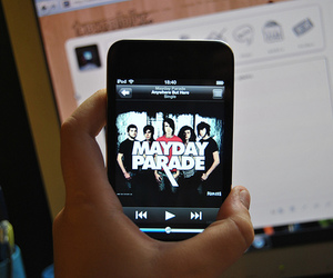 mayday parade, itouch, and anywhere but here image