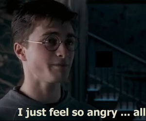 angry, daniel radcliffe, and harry potter image