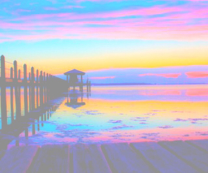beach, color, and rainbow image
