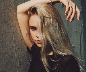 girl, blonde, and model image