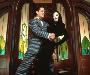 couple and the addams family image