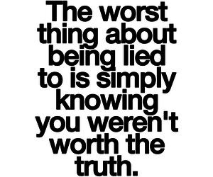lie, quote, and truth image