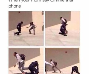 funny, mom, and phone image