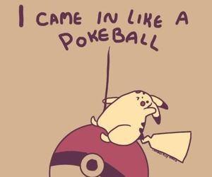 pokeball, pikachu, and pokemon image