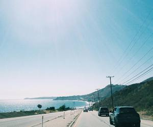 california, malibu, and Road Trip image