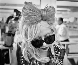 Lady gaga, hair, and black and white image