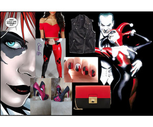 black, look, and Polyvore image