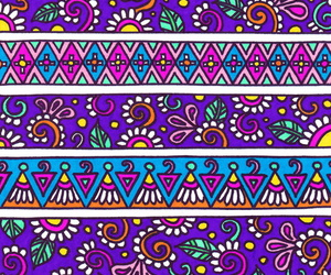 drawings, pattern, and aztec pattern image