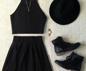 bad girl, black, and booties image