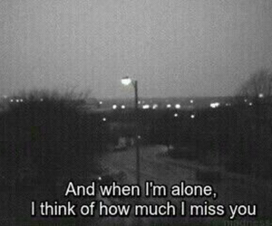 alone, sad, and quotes image