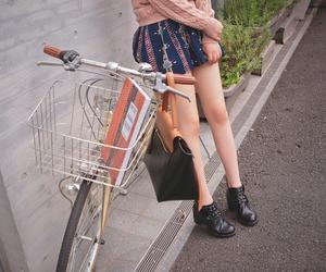 bike, fashion, and legs image