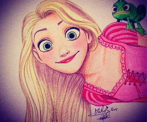 art, artwork, and rapunzel image