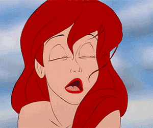 ariel, little, and mermaid image