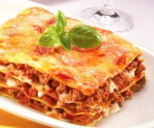 food, delicious, and lasagna image