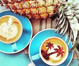 beach, coffee, and latte art image