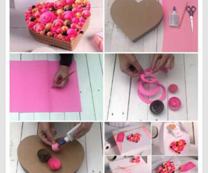 box, diy, and heart image