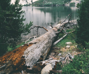 lake, landscapes, and mountains image