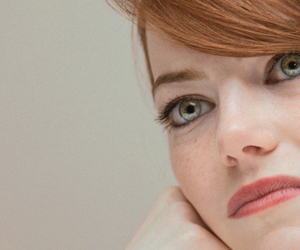 beautiful, emma stone, and freckles image