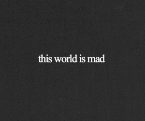mad, world, and quotes image