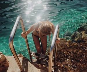 girl, stairs, and summer image