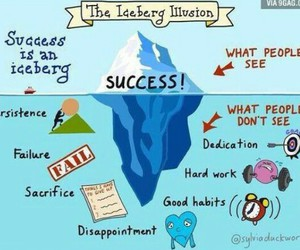 success, iceberg, and quotes image