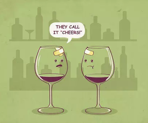 funny, cheers, and wine image